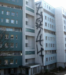 2047 giant fire extinguisher graffiti tag zurich switzerland