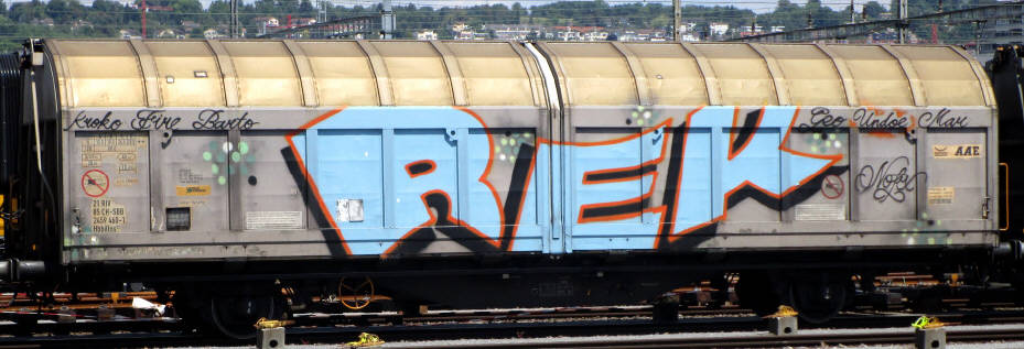 REK SBB-güterwagen graffiti zürich cargo train graffiti freights