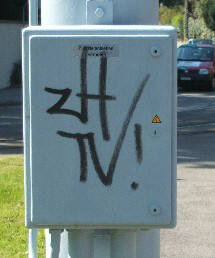 ZH TV graffiti tag zürich