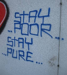 stay poor stay pure graffiti in zurich switzerland