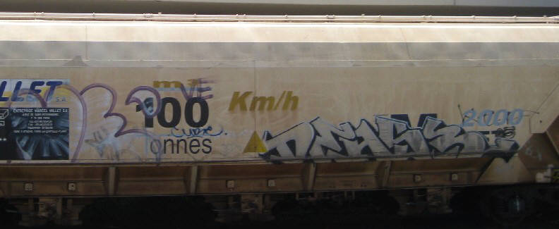GRAFFITI FREIGHT CAR IN ZURICH SWITZERLAND